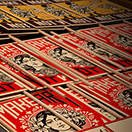 VICTORY IS PEACE 2016 / Siebdruck / Shepard Fairey -  CORPORATE VIOLENCE