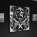 Shepard Fairey - Original Painting and Silkscreen on Wood, International Dealmaker / Street-Art Exhibition