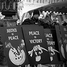 PEACE IS JUSTICE - Protest march